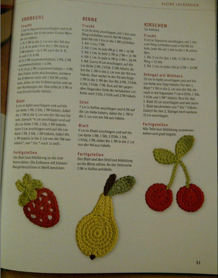 100 bezaubernde Häkel-Minis Seite Früchte Kamuran Simsek