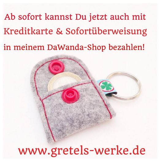 DaWanda Gretels Werke Kreditkarte Sofortüberweisung