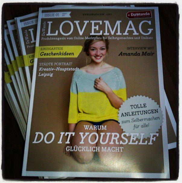 DaWanda LoveMag Gretels Werke Oktober 2012 Cover Instagram