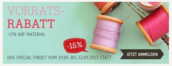 DaWanda Vorrats-Rabatt 15 Prozent Gretels Werke September 2013