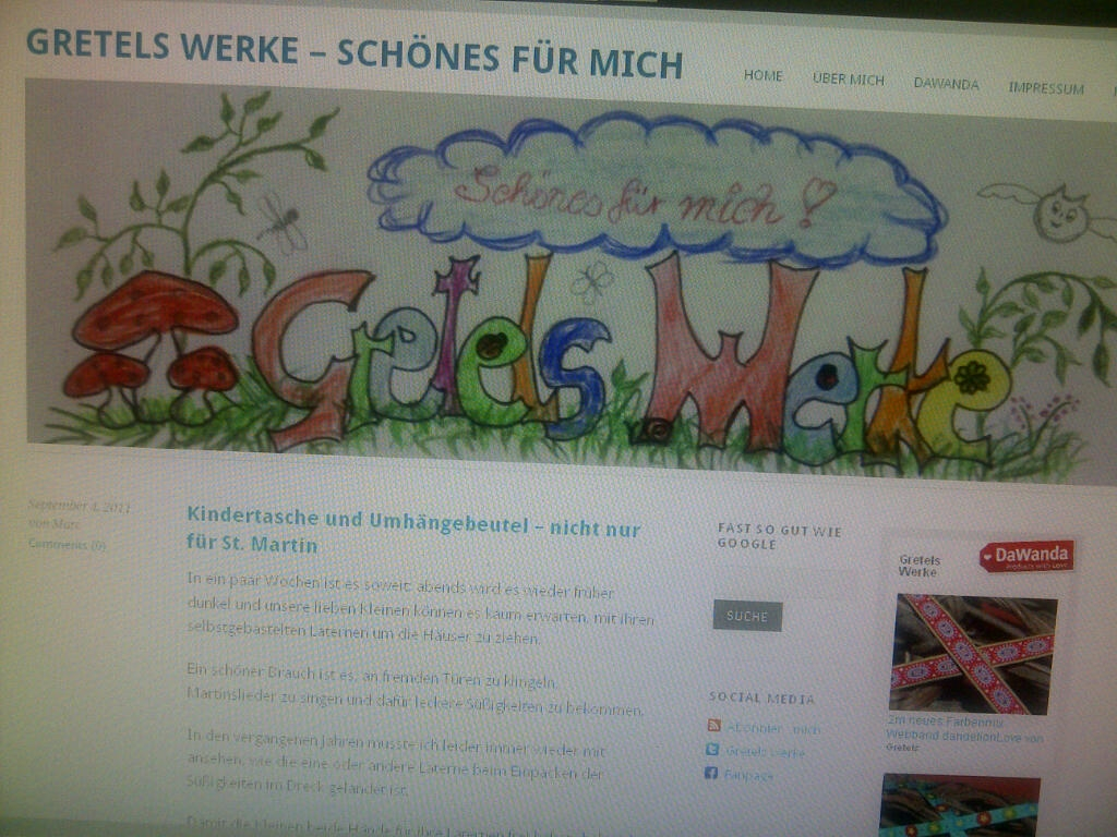Gretels Werke Homepage Screenshot