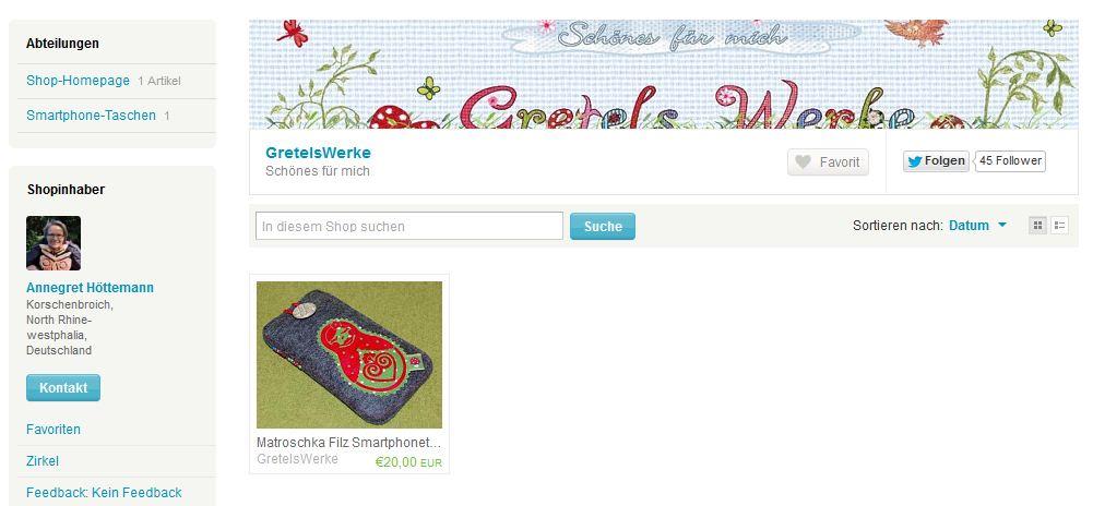 Schönes für mich von GretelsWerke auf Etsy Shop Ansicht