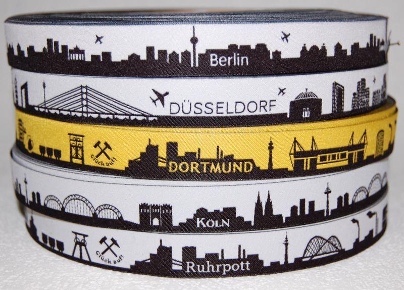 Webbänder Städte Berlin Düsseldorf Köln Ruhrpott Dortmund