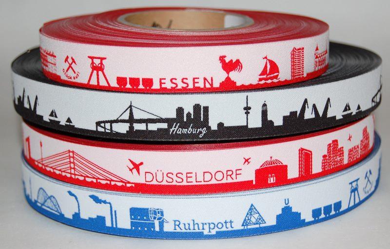 Webbänder Städte Gretels Essen Hamburg Düsseldorf Ruhrpott