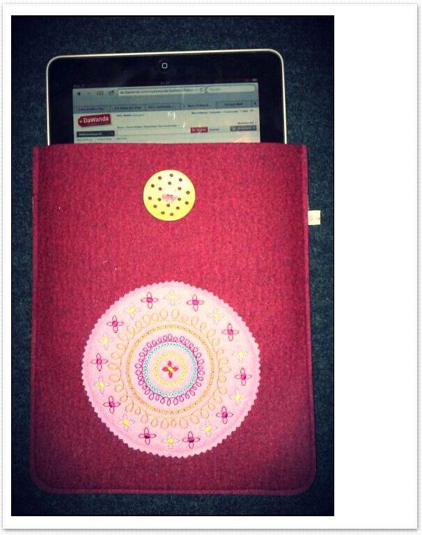 iPad Tasche Filz Tablet - PC DaWanda Gretels Werke bordeaux