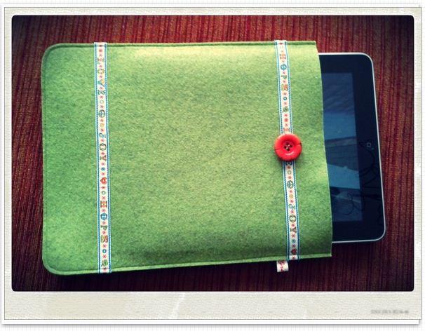 tasche und h lle aus filz f r das ipad und andere tablet pc gretels werke sch nes f r mich. Black Bedroom Furniture Sets. Home Design Ideas